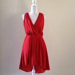 Cynthia Rowley orange red dress